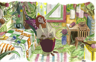 Arrietty's room by Kailyce