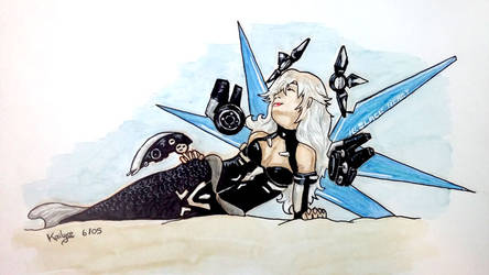 Lady Black Heart Mermaid
