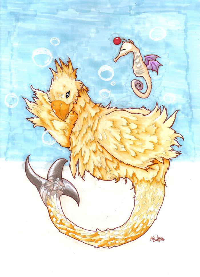 Chocobo Mermaid by Kailyce