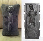 Han Solo in Carbonite Pillow