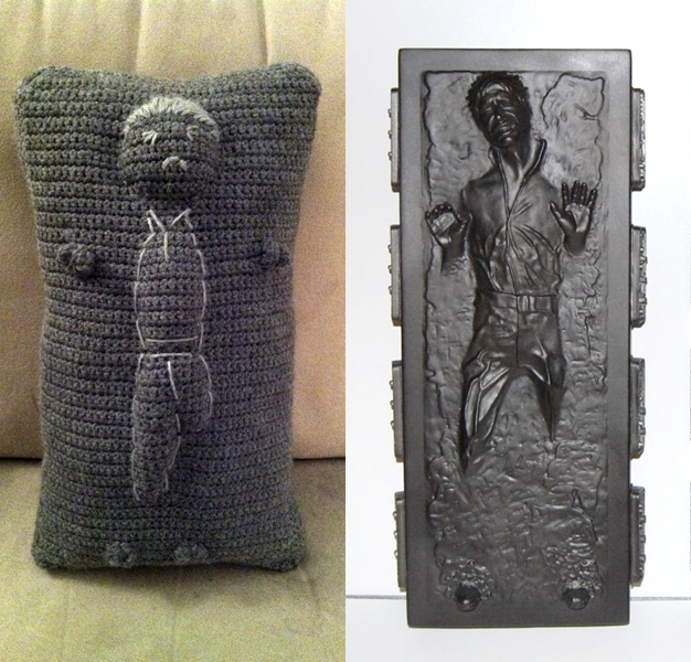 Han Solo in Carbonite Pillow by smapte