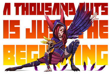 A thousand cuts is just the beginning - Xayah by NoTraceComic