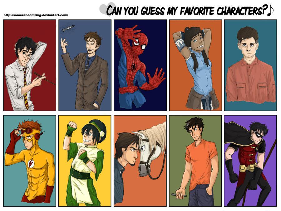 My favorite characters meme by amelia-sh