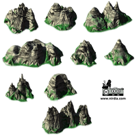 Isometric Mountains Render VideoGame 2d