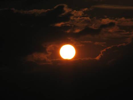 Sun in black