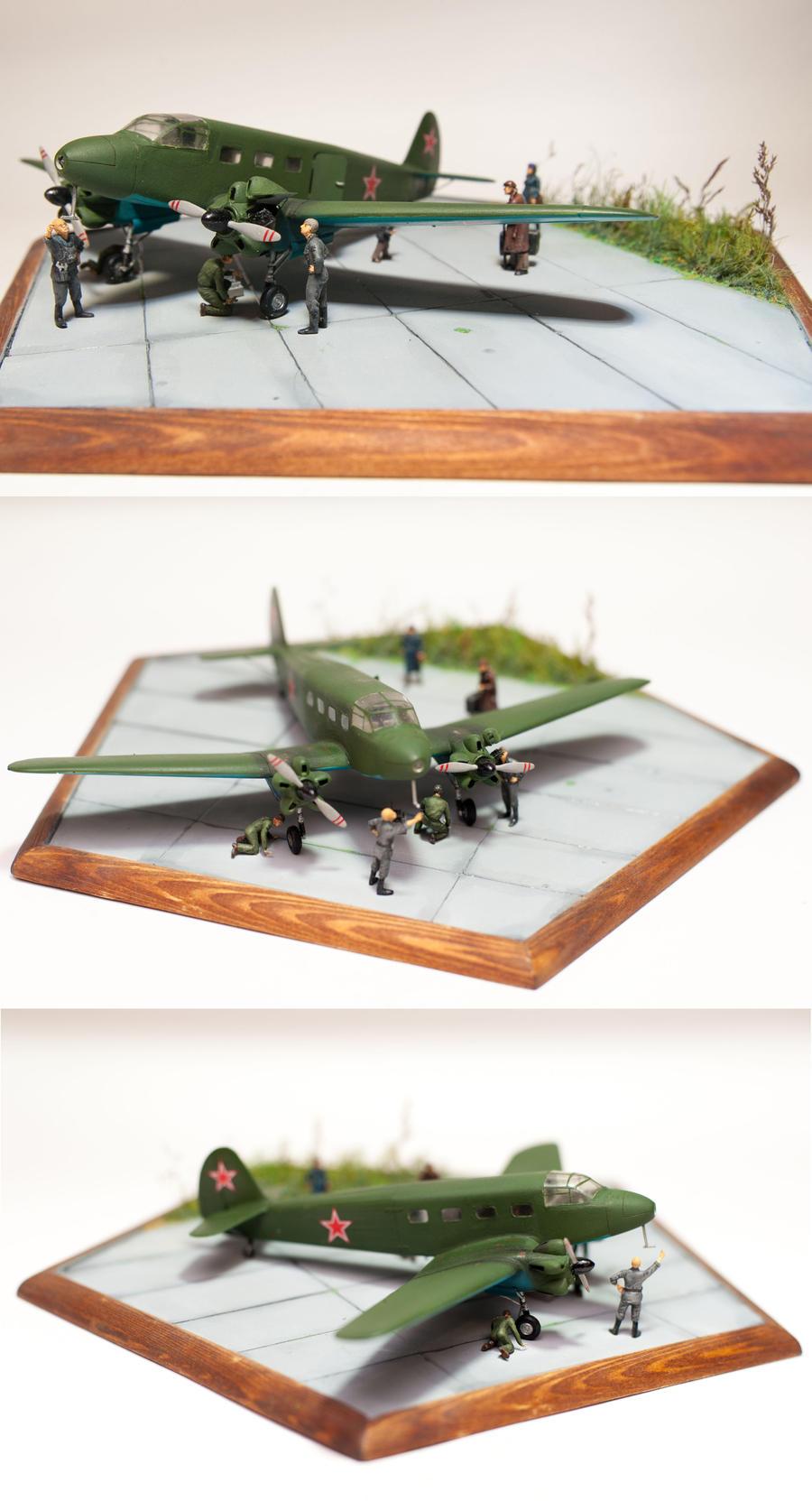 Yak-8 Diorama by Chrysomela