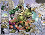 Hulk double-page spread