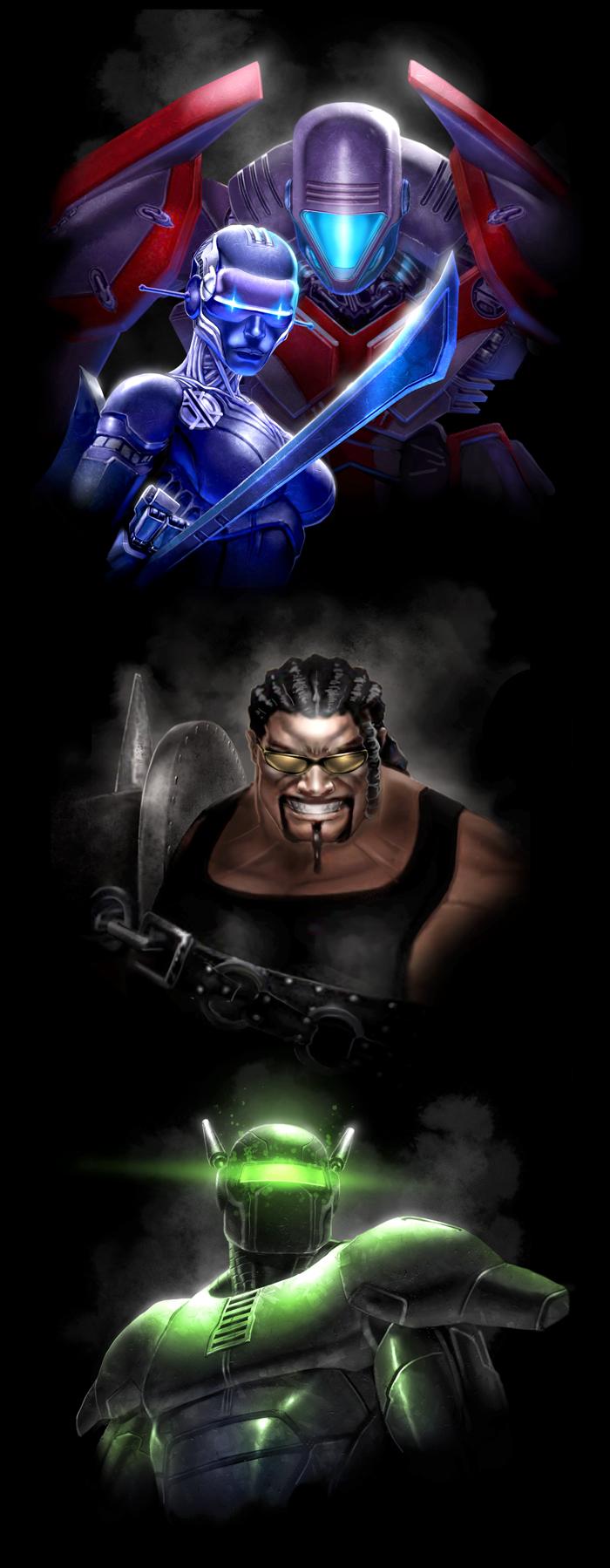 Villain Portraits by DNA-1