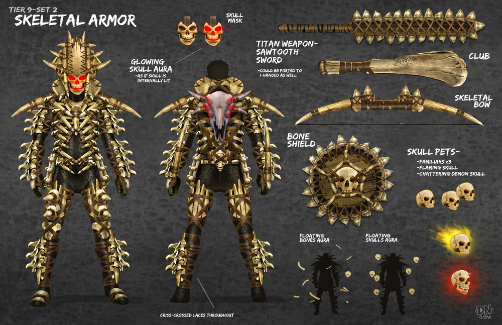 Skeletal Armor by DNA-1