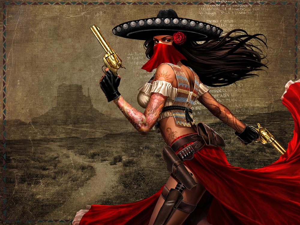 Soloria portrait by dna 1 - Gunfighter wallpaper ...