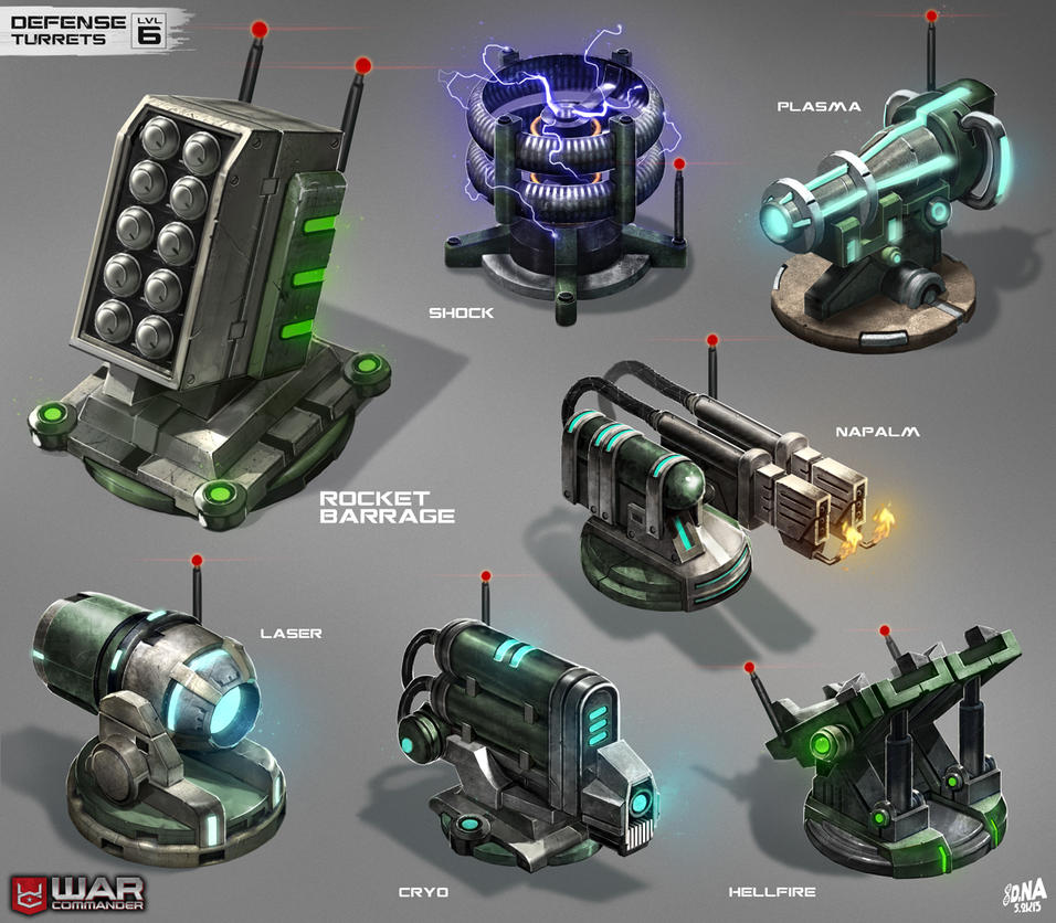 War Commander--Defense Turrets LVL6 by DNA-1
