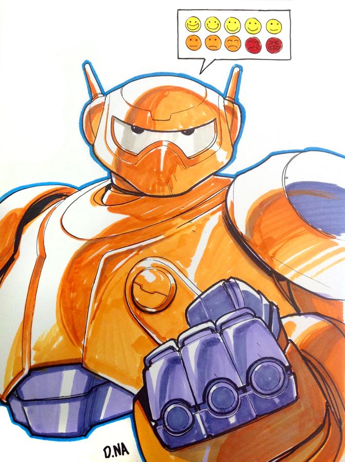 Baymax Marker Sketch by DNA-1