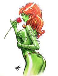 Poison Ivy Marker Sketch