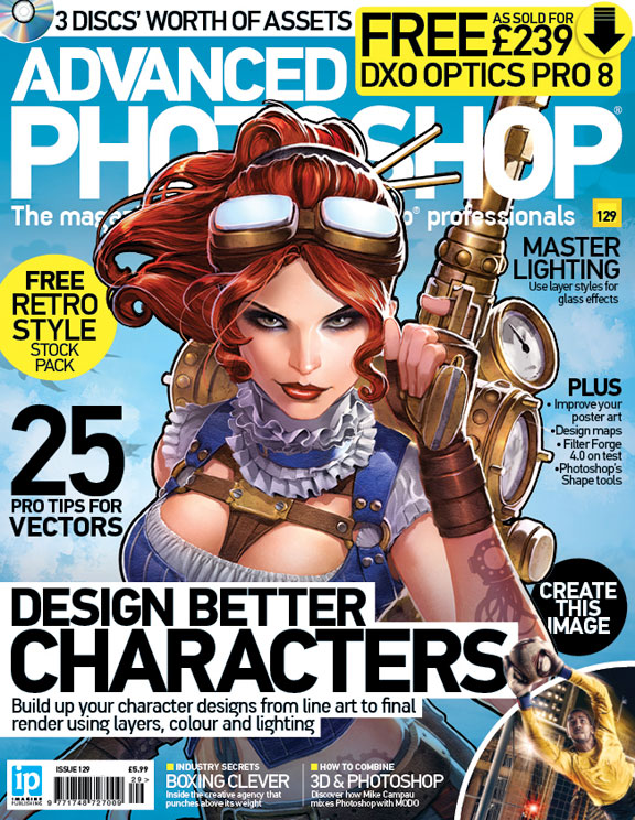 Advanced Photoshop Magazine #129 Cover by DNA-1