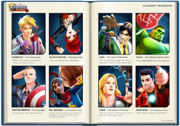 Avengers Academy Yearbook by DNA-1
