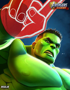 Avengers Academy--Hulk Portrait