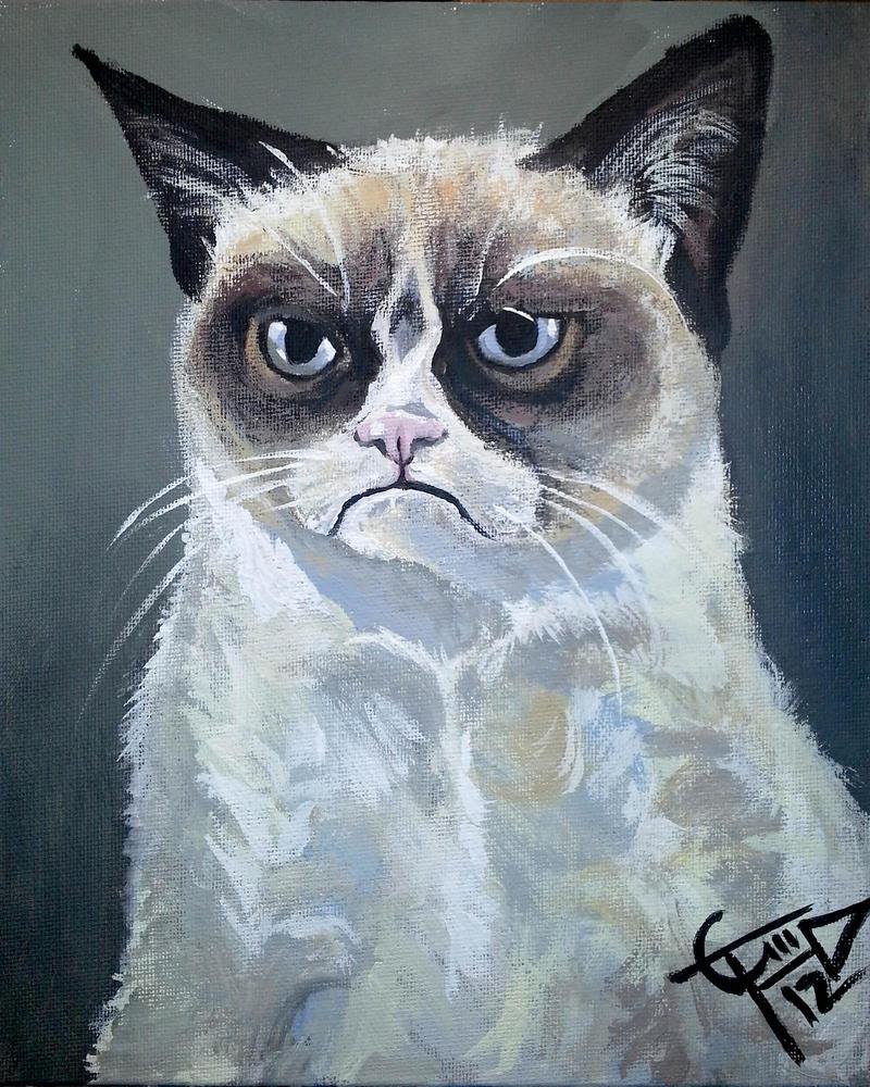 Tard - The Grumpy Cat by ZomBieTOmmm