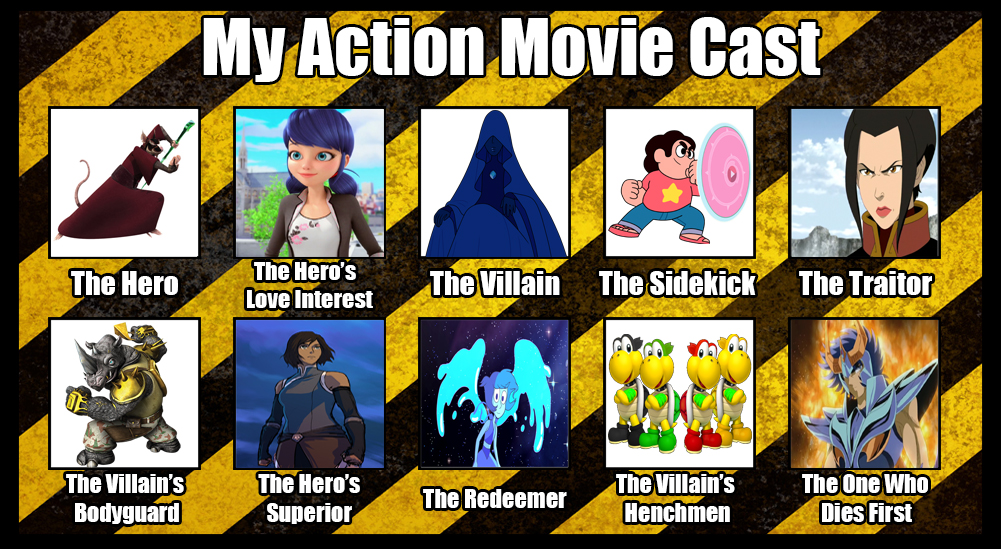 Mi action movie cast by elfdragon35
