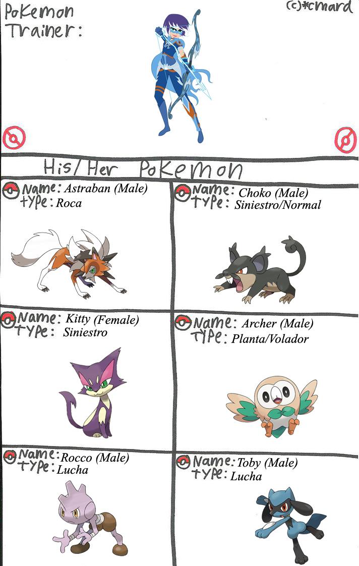 Mysticons Equipo Pokemon Zarya Moonwolf by elfdragon35