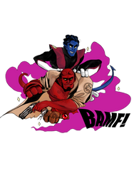 Hellboy and the Xmen 01 by teaofrage