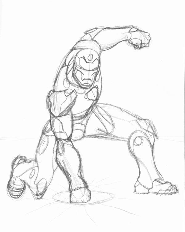 Iron Man sketch by ssj5goku28 on DeviantArt