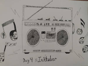 Inktober Day 4: Radio