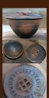 Smoke Fired Rune Pot by RowanSong