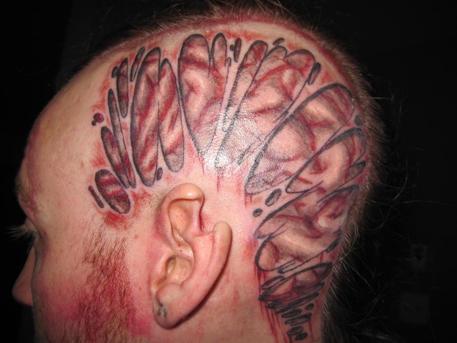 Tattoo-Brain by Atrash666Brain Head Tattoos