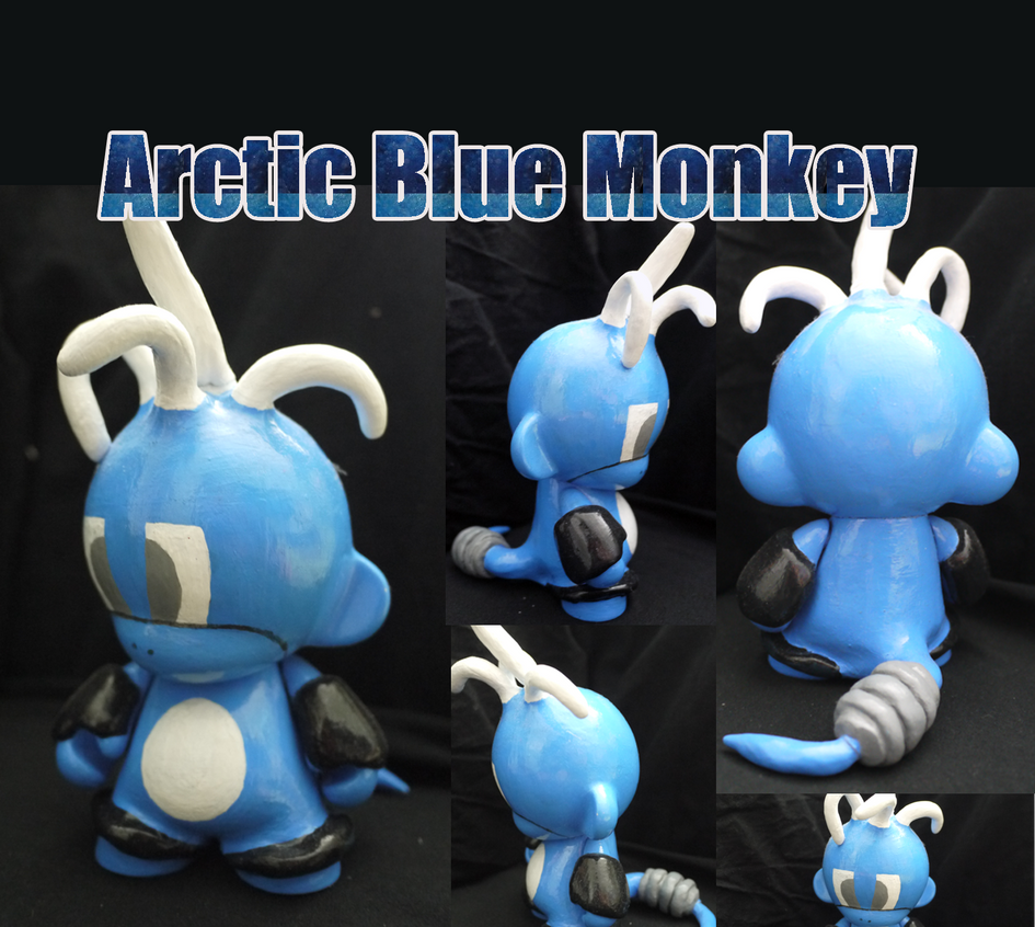 Arctic Blue Monkey by Zombie-Matrix