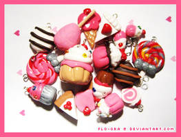 sweets- clay charms by flo-ora