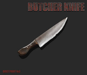 Daily paint 3. Butcher knife by L1nkoln