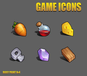 Daily paint 4. Game icons