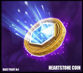 Daily paint 7. Heartstone coin by L1nkoln