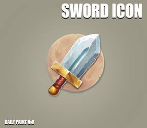 Daily paint 8. Sword icon