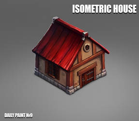 Daily paint 9. Isometric house