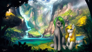 The Angel and the Falls by L1nkoln
