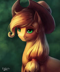 Applejack portrait by L1nkoln