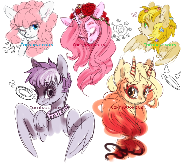 OC doodles by Carnivvorous