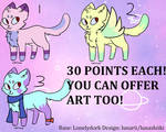 30 POINTS KITTY ADOPTS! OPEN 1 and 3 by Lunashiiki