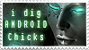 I dig android chicks - stamp by ValentinaKallias