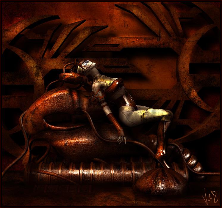 Steampunk - Tired by ValentinaKallias