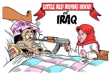 Little Red Riding Hood of Iraq by Latuff2