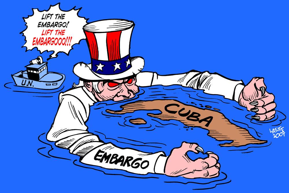 Carlos Latuff - Caricaturista Revolucionario Lift_Cuba_embargo_by_Latuff2