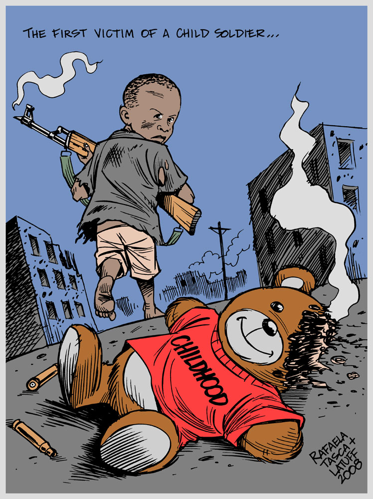 Carlos Latuff - Caricaturista Revolucionario Child_soldiers_by_Latuff2