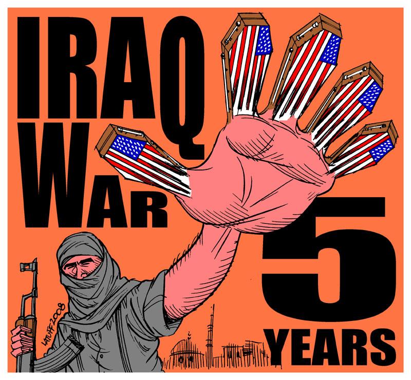 Iraq War 5 years D by Latuff2