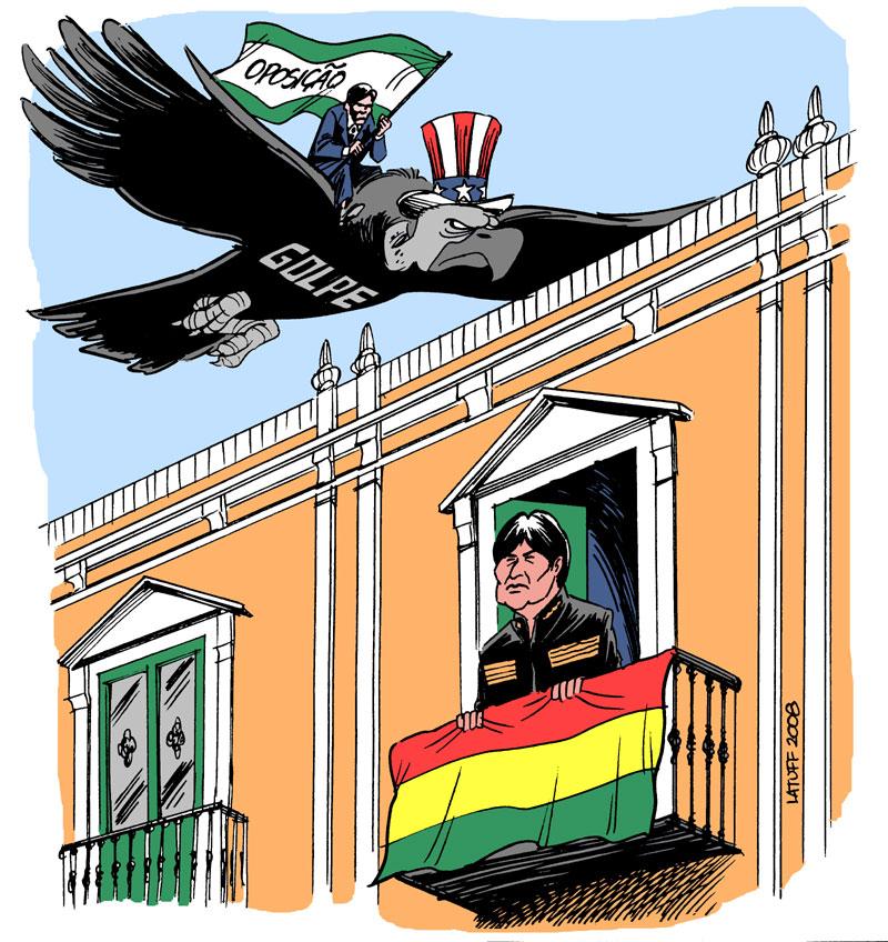 Carlos Latuff - Caricaturista Revolucionario Coup_threath_in_Bolivia_by_Latuff2