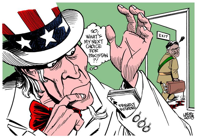 Musharraf resigns by Latuff2