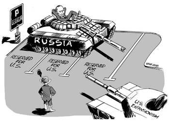 Bush expansionism in Georgia by Latuff2