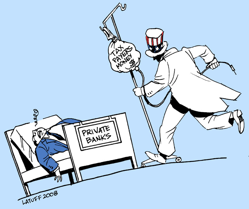 Saving Private Banks by Latuff2