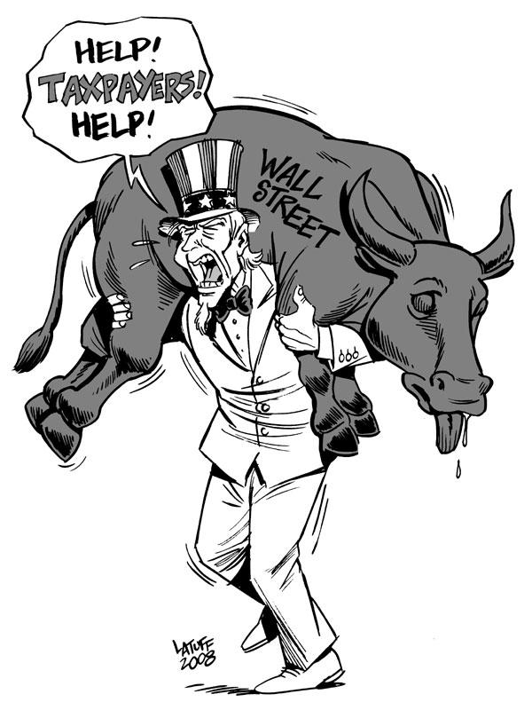 Wall Street crisis by Latuff2